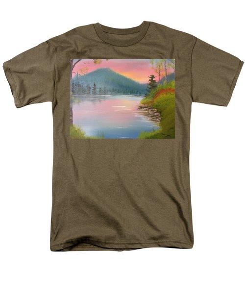 Sunset Lake Men's T-Shirt  (Regular Fit) by Thomas Janos