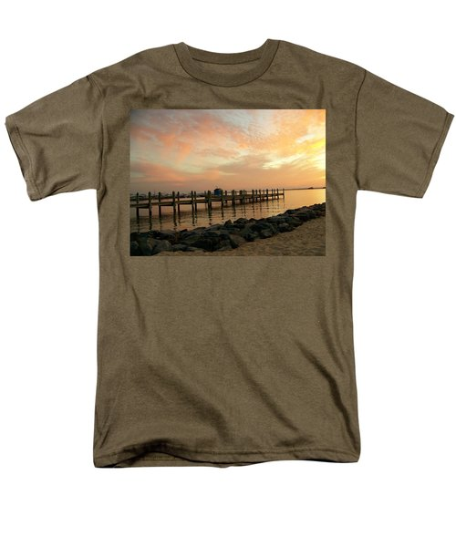 Sunset On Dewey Bay Men's T-Shirt  (Regular Fit) by Trish Tritz