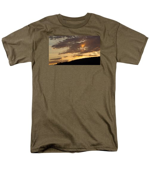 Men's T-Shirt  (Regular Fit) featuring the photograph Sunset On Hunton Lane #5 The Heart Knows by Carlee Ojeda
