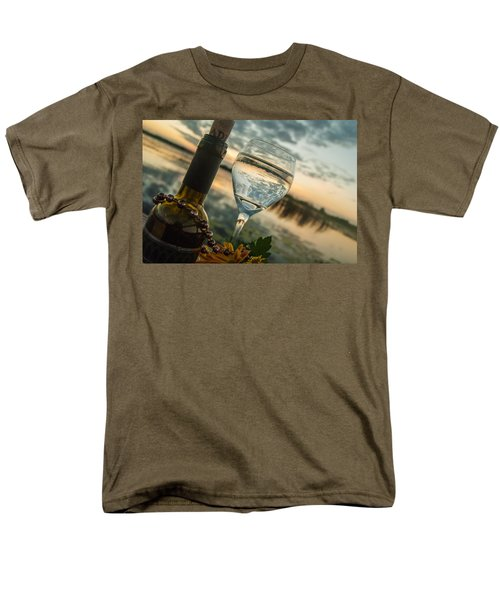 Sunset On The Lake Men's T-Shirt  (Regular Fit) by Pamela Williams