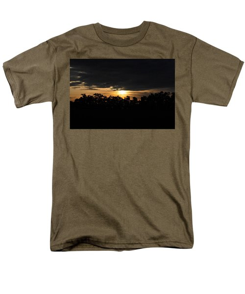 Sunset Over Farm And Trees - Silhouette View  Men's T-Shirt  (Regular Fit) by Matt Harang