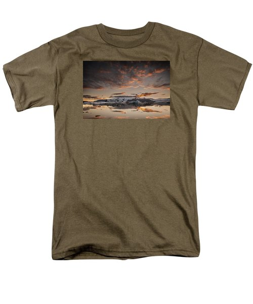 Sunset Over Jokulsarlon Lagoon, Iceland Men's T-Shirt  (Regular Fit) by Chris McKenna