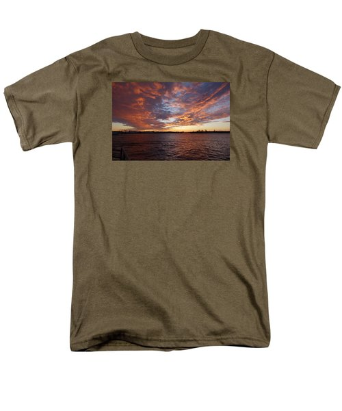 Sunset Over Manasquan Inlet Men's T-Shirt  (Regular Fit) by Melinda Saminski