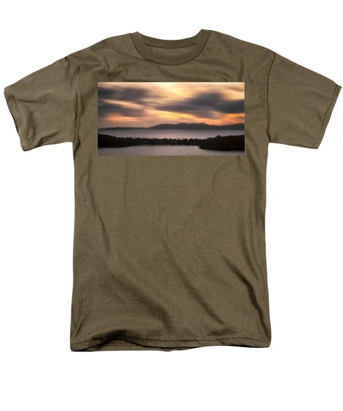 Men's T-Shirt  (Regular Fit) featuring the photograph Sunset Over St. John And St. Thomas Panoramic by Adam Romanowicz