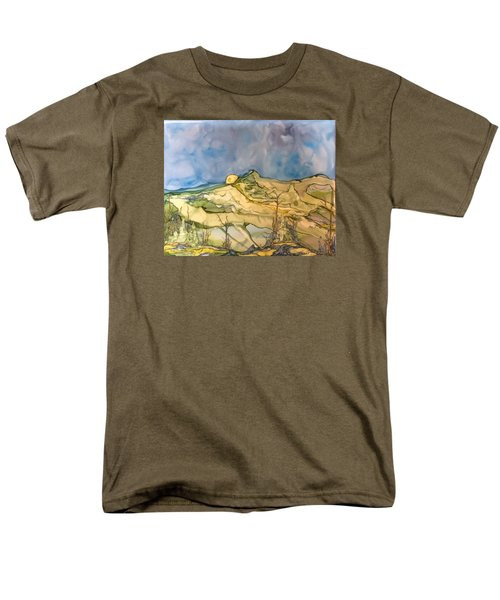 Men's T-Shirt  (Regular Fit) featuring the painting Sunset by Pat Purdy