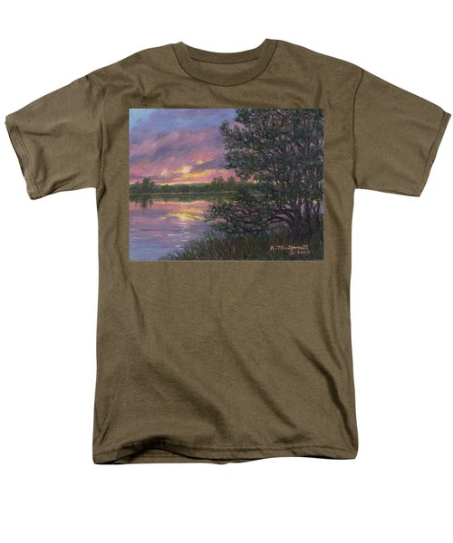 Men's T-Shirt  (Regular Fit) featuring the painting Sunset River # 8 by Kathleen McDermott