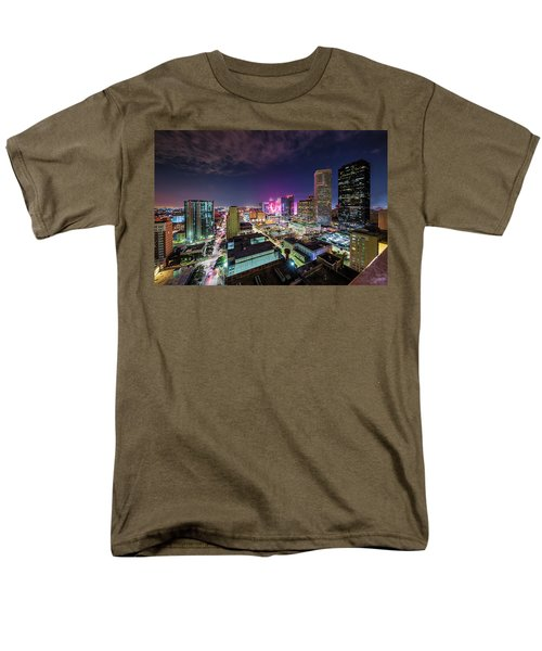 Super Bowl Li Down Town Houston Fireworks Men's T-Shirt  (Regular Fit) by Micah Goff