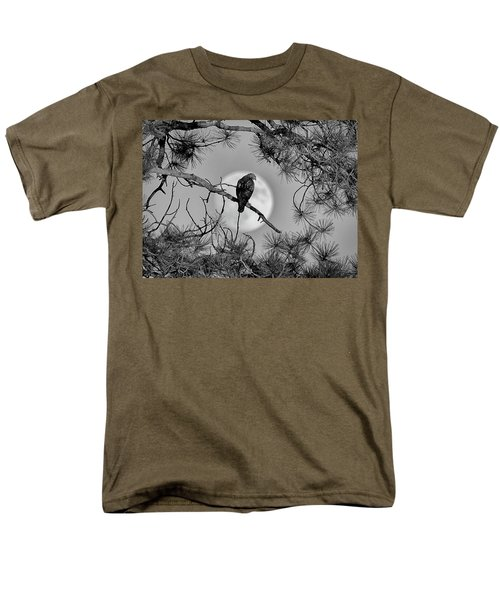 Super Moon Hawk Men's T-Shirt  (Regular Fit) by Kevin Munro