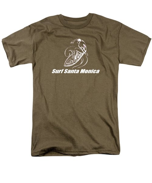 Surf Santa Monica Men's T-Shirt  (Regular Fit) by Brian's T-shirts