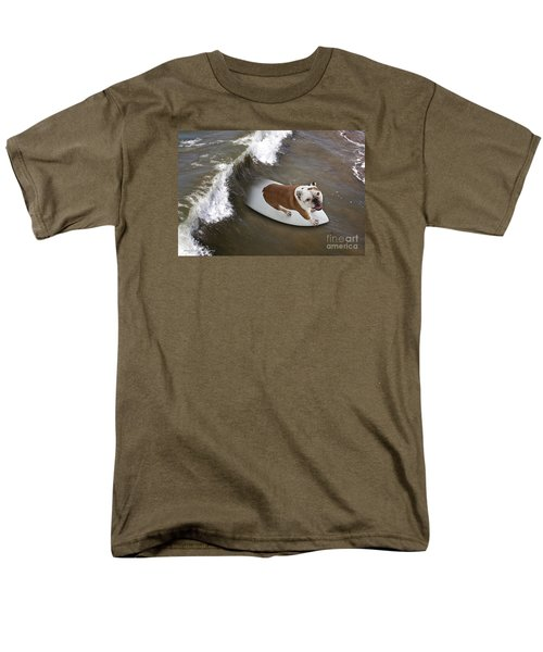 Men's T-Shirt  (Regular Fit) featuring the photograph Surfer Dog by John A Rodriguez