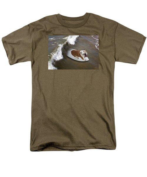 Surfer Dog Men's T-Shirt  (Regular Fit) by John A Rodriguez