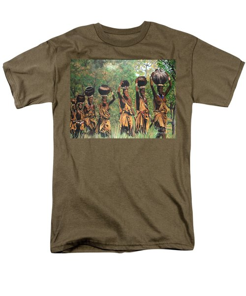 Men's T-Shirt  (Regular Fit) featuring the painting Surma Women Of Africa by Sigrid Tune