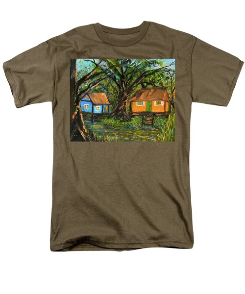 Swamp Cabins Men's T-Shirt  (Regular Fit) by Christy Usilton