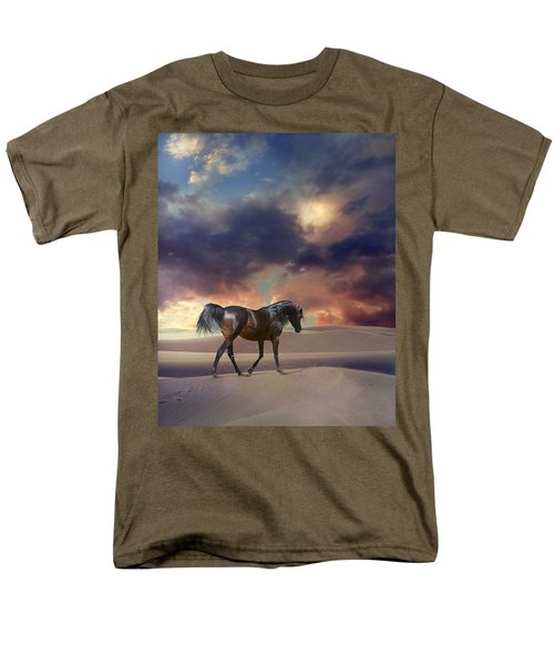 Men's T-Shirt  (Regular Fit) featuring the digital art Swan Of Desert by Dorota Kudyba