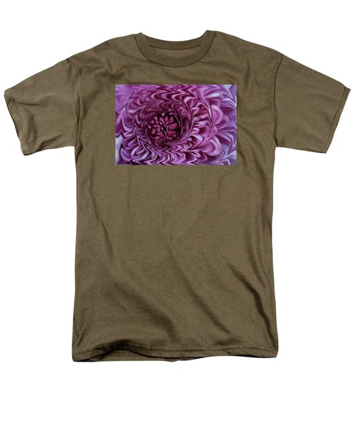 Men's T-Shirt  (Regular Fit) featuring the photograph Purple Mum Abstract by Glenn Gordon