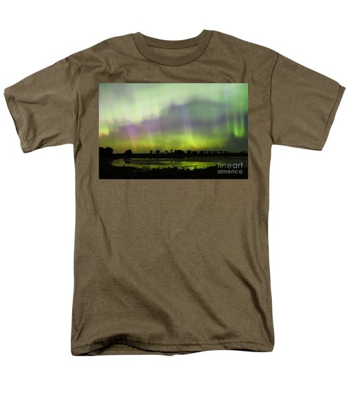 Men's T-Shirt  (Regular Fit) featuring the photograph Swirling Curtains 2 by Larry Ricker