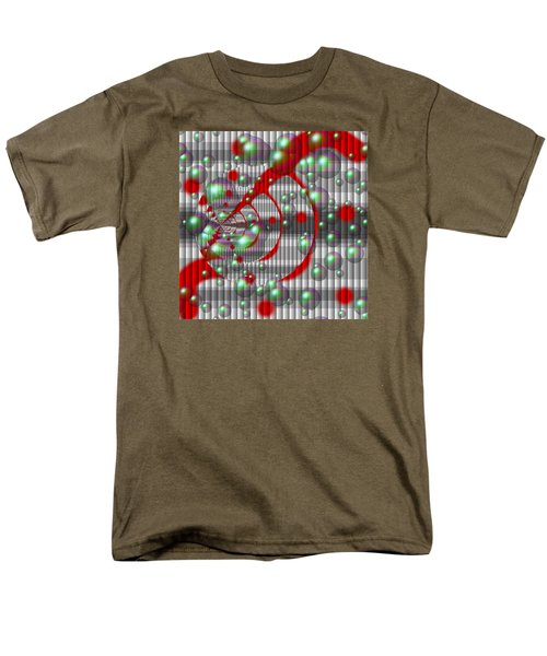 Swirly Red With Bubbles Men's T-Shirt  (Regular Fit)