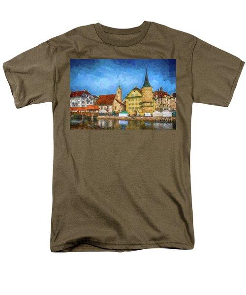 Swiss Town Men's T-Shirt  (Regular Fit) by Pravine Chester