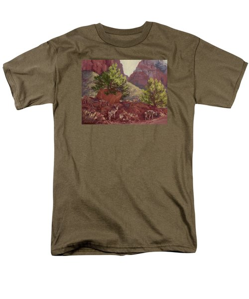 Switchback Stop For Wildlife Men's T-Shirt  (Regular Fit) by Jane Thorpe