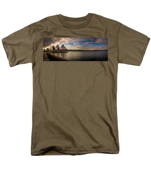 Men's T-Shirt  (Regular Fit) featuring the photograph Sydney Harbor by Andrew Matwijec