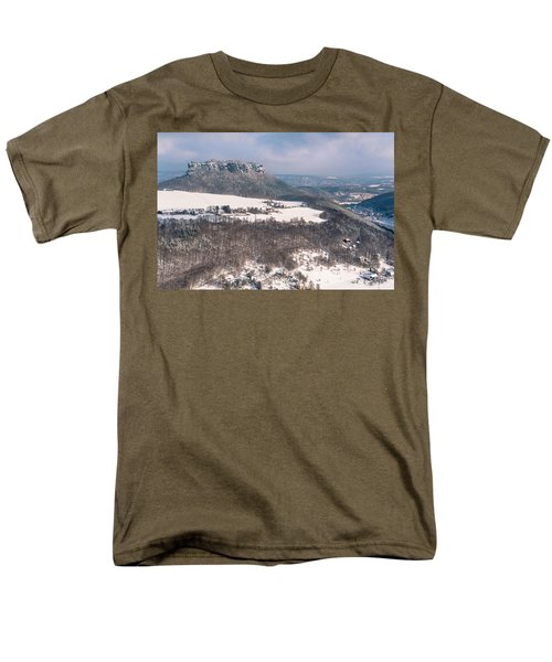 Men's T-Shirt  (Regular Fit) featuring the photograph Table Mountain Pfaffenstein. Saxony by Jenny Rainbow