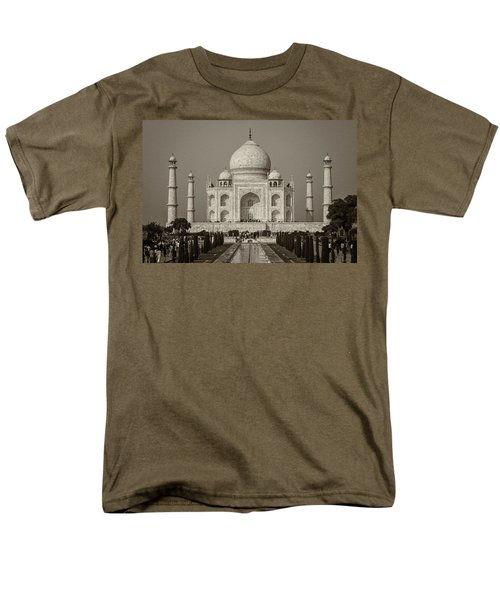 Taj Mahal Men's T-Shirt  (Regular Fit) by Hitendra SINKAR