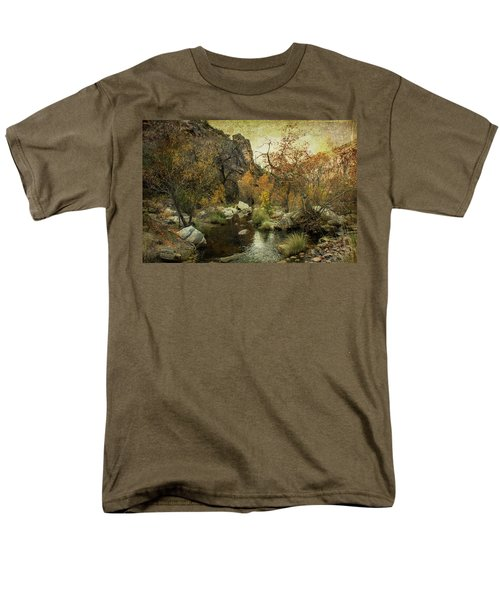 Men's T-Shirt  (Regular Fit) featuring the photograph Taking A Hike by Barbara Manis