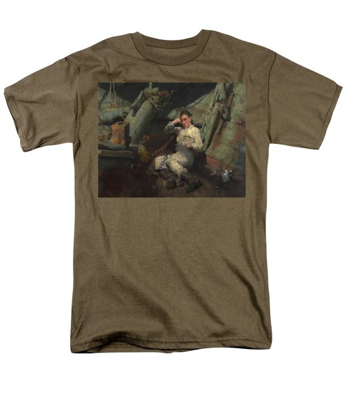 Men's T-Shirt  (Regular Fit) featuring the painting Taking A Spell  by Henry Scott Tuke
