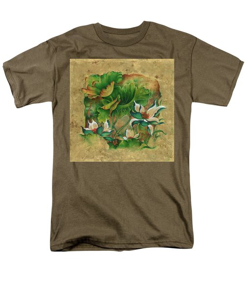 Men's T-Shirt  (Regular Fit) featuring the painting Talks About The Essence Of Life by Anna Ewa Miarczynska