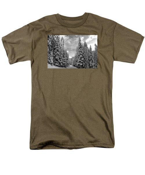 Tall Snowy Trees Men's T-Shirt  (Regular Fit) by Lynn Hopwood