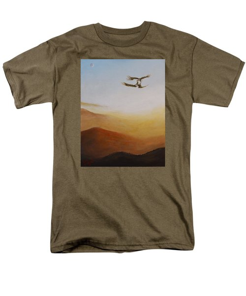 Men's T-Shirt  (Regular Fit) featuring the painting Talon Lock by Dan Wagner