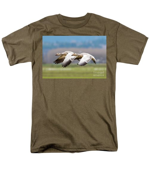 Men's T-Shirt  (Regular Fit) featuring the photograph Tandem Glide by Mike Dawson