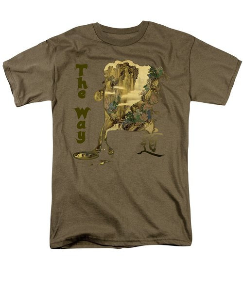 Men's T-Shirt  (Regular Fit) featuring the painting Tani Buncho Chi by Robert G Kernodle