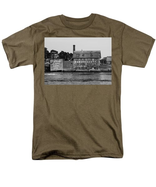 Tarr And Wonson Paint Manufactory In Black And White Men's T-Shirt  (Regular Fit) by Brian MacLean