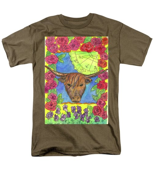 Men's T-Shirt  (Regular Fit) featuring the painting Taurus by Cathie Richardson