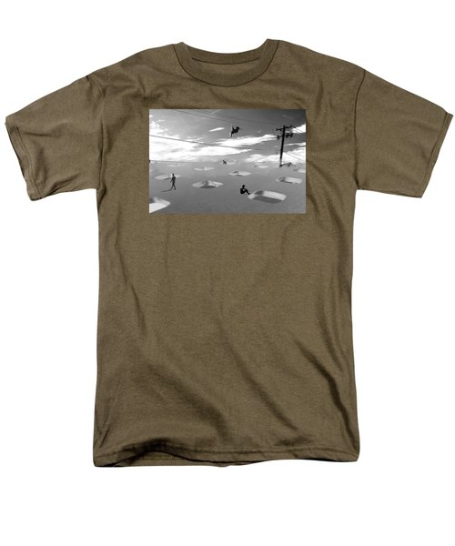 Men's T-Shirt  (Regular Fit) featuring the photograph Telephone Line by Christopher Woods