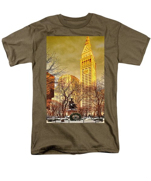 Ten Past Four At Madison Square Park Men's T-Shirt  (Regular Fit) by Chris Lord