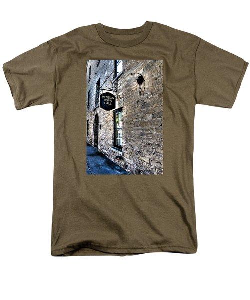 Mendon Town Hall Men's T-Shirt  (Regular Fit) by William Norton