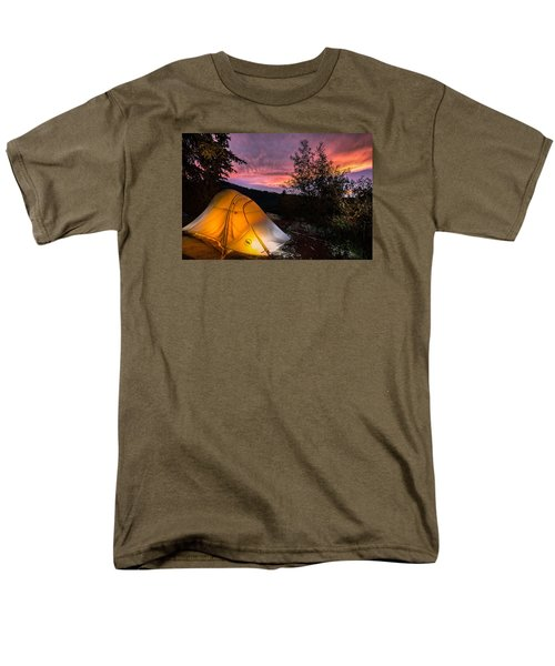 Tent At Sunset Men's T-Shirt  (Regular Fit) by Michael J Bauer