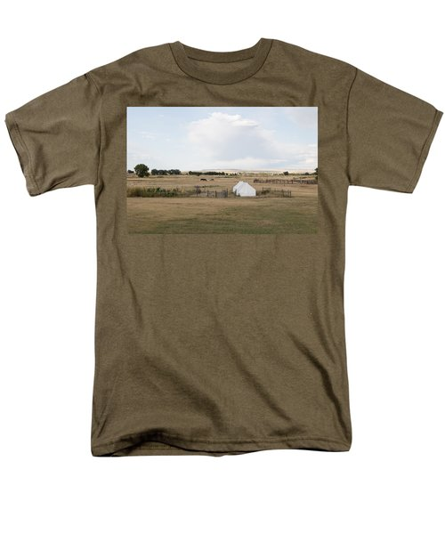 Men's T-Shirt  (Regular Fit) featuring the photograph Tents At Fort Laramie National Historic Site In Goshen County by Carol M Highsmith