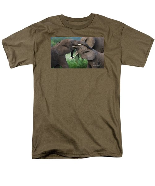 Men's T-Shirt  (Regular Fit) featuring the photograph Test Of Strength-signed by J L Woody Wooden