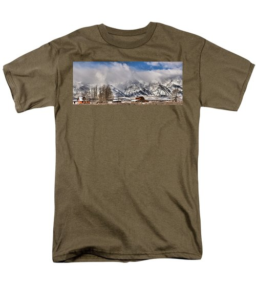 Men's T-Shirt  (Regular Fit) featuring the photograph Teton Mountains Over Mormon Row by Adam Jewell