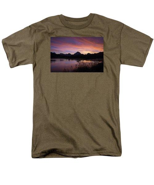 Teton Sunset Men's T-Shirt  (Regular Fit) by Gary Lengyel