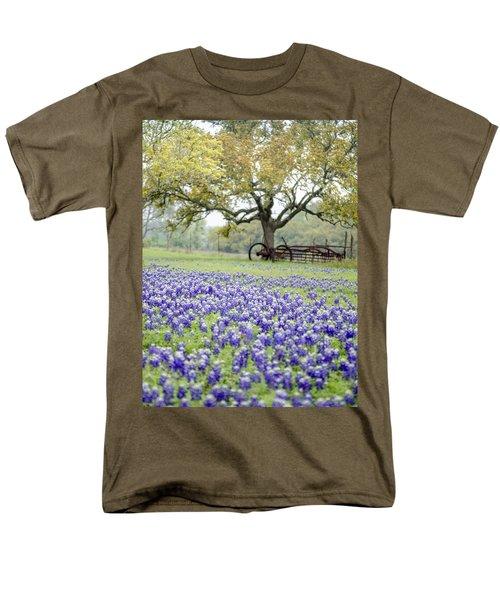 Texas Bluebonnets And Rust Men's T-Shirt  (Regular Fit) by Debbie Karnes