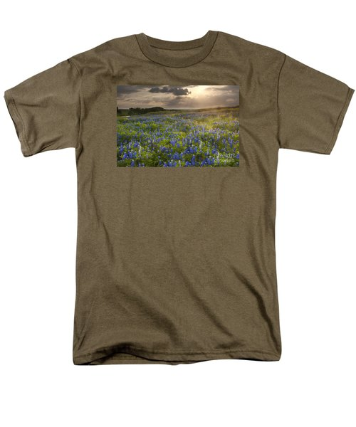 Texas Bluebonnets At Sunrise Men's T-Shirt  (Regular Fit) by Keith Kapple