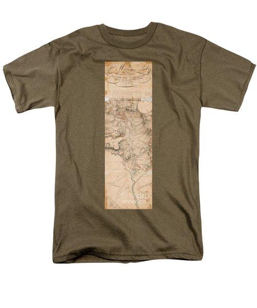 Texas Revolution Santa Anna 1835 Map For The Battle Of San Jacinto  Men's T-Shirt  (Regular Fit)
