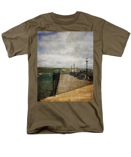 Men's T-Shirt  (Regular Fit) featuring the photograph Textures On Swanage Pier by Linsey Williams