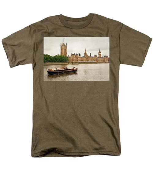 Men's T-Shirt  (Regular Fit) featuring the photograph Thames by Keith Armstrong