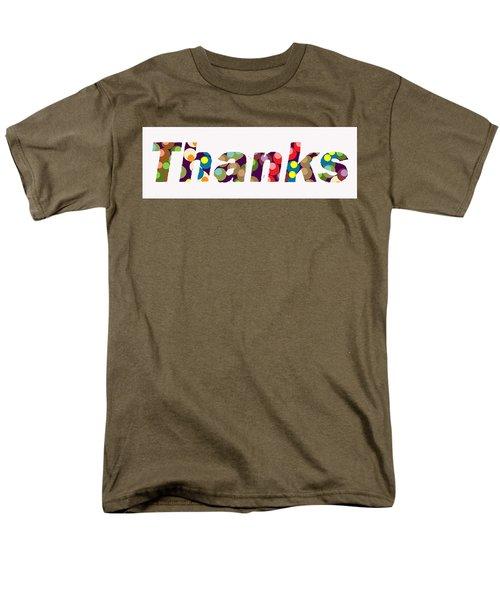 Men's T-Shirt  (Regular Fit) featuring the digital art Thanks by R  Allen Swezey