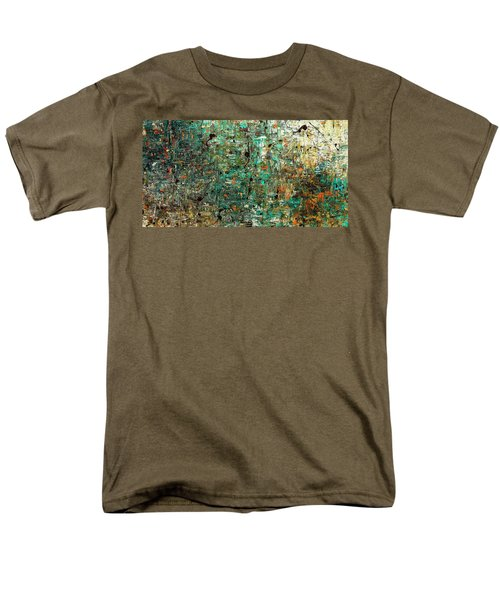Men's T-Shirt  (Regular Fit) featuring the painting The Abstract Concept by Carmen Guedez